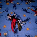 playful blue harry potter throw blanket idea with potter and the broom picture with stars and other galaxy