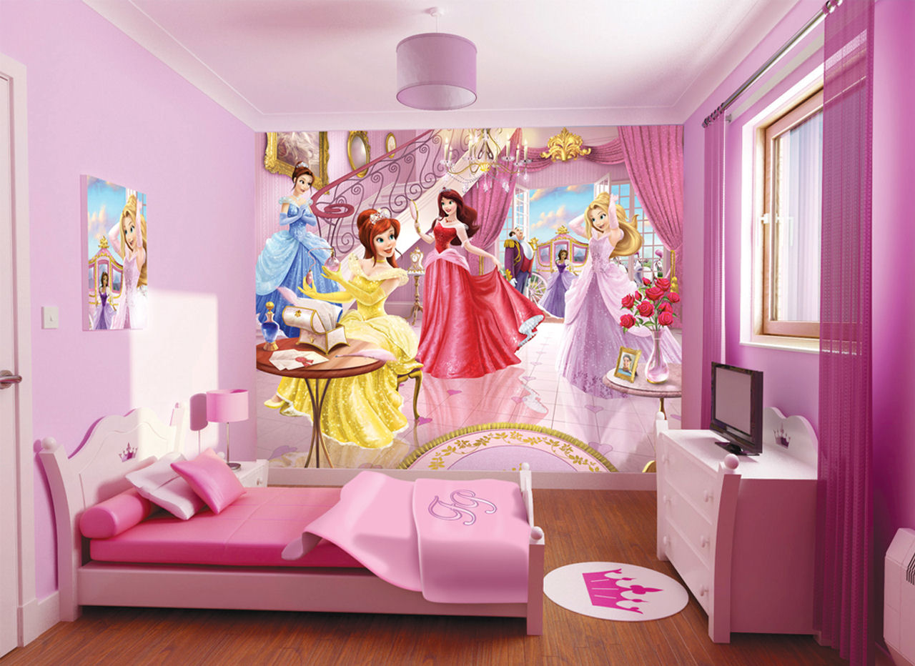 princess bedding perfect bed for girls homesfeed 17140 | princess from disney bedding idea with all pink bed and pillow and sheet and pink vanity with crown pattern and glass window and wallpaper and pink chandelier