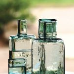 recycled-glass-water-carafe-with-thick-glass-and-unique-square-bedside-carafe-and-handblown-by-colombian-artisans-and-fade-resistant