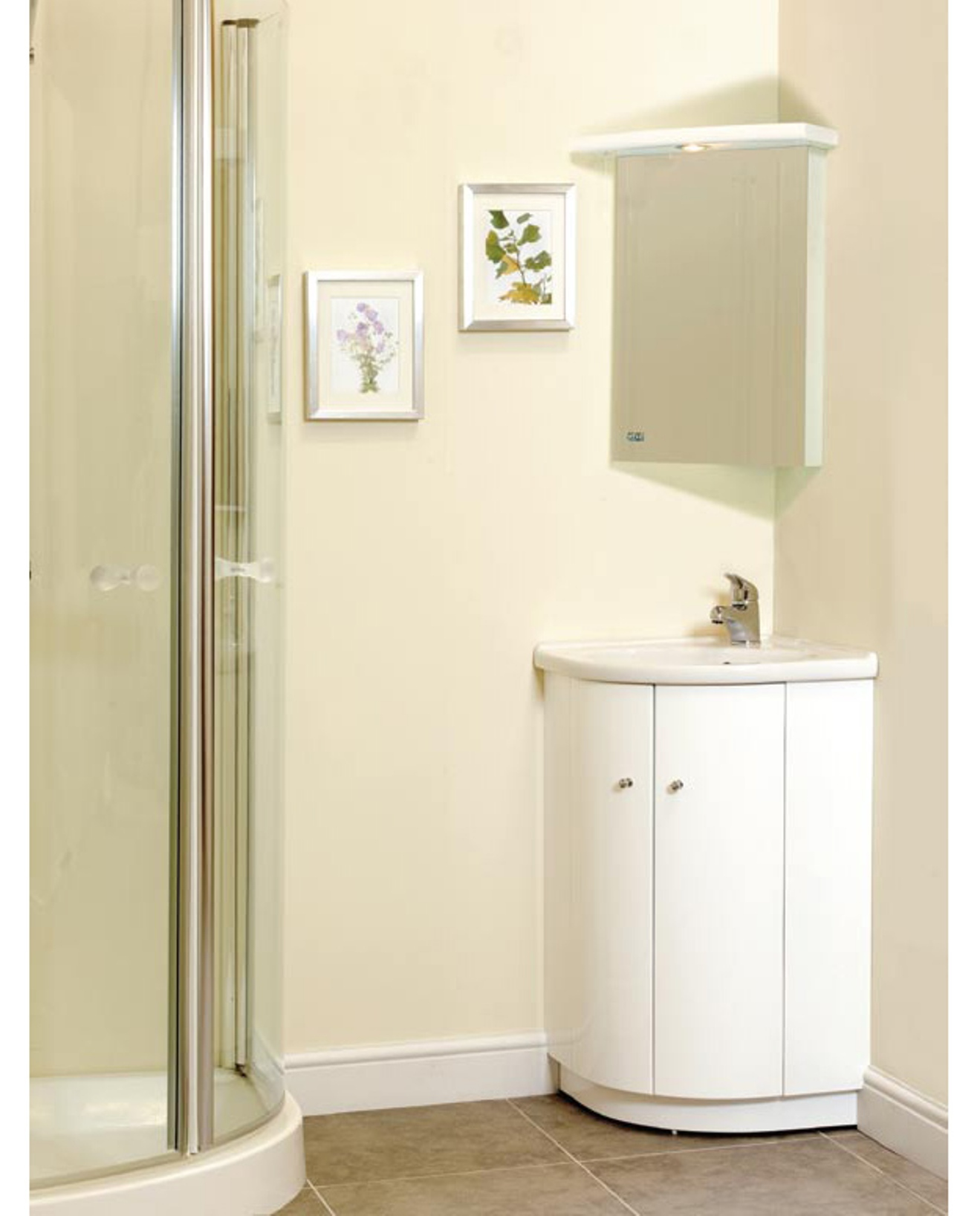 corner bathroom mirror corner vanity set solution for small space homesfeed 12529