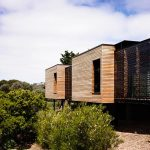 Simply Blocks Contemporary Wooden House Design With Glass Window And Block Style