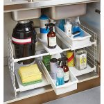 Smart Underneath Bathroom Sink Organizer With Expandable Undersink Organizer From Containerstore.com Includes Six Shelves And Two Pull Out Bins