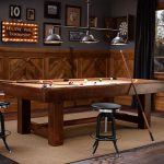 stunning basement pottery barn for teen idea with billiard table and black stools and wooden beadboard and gray siding