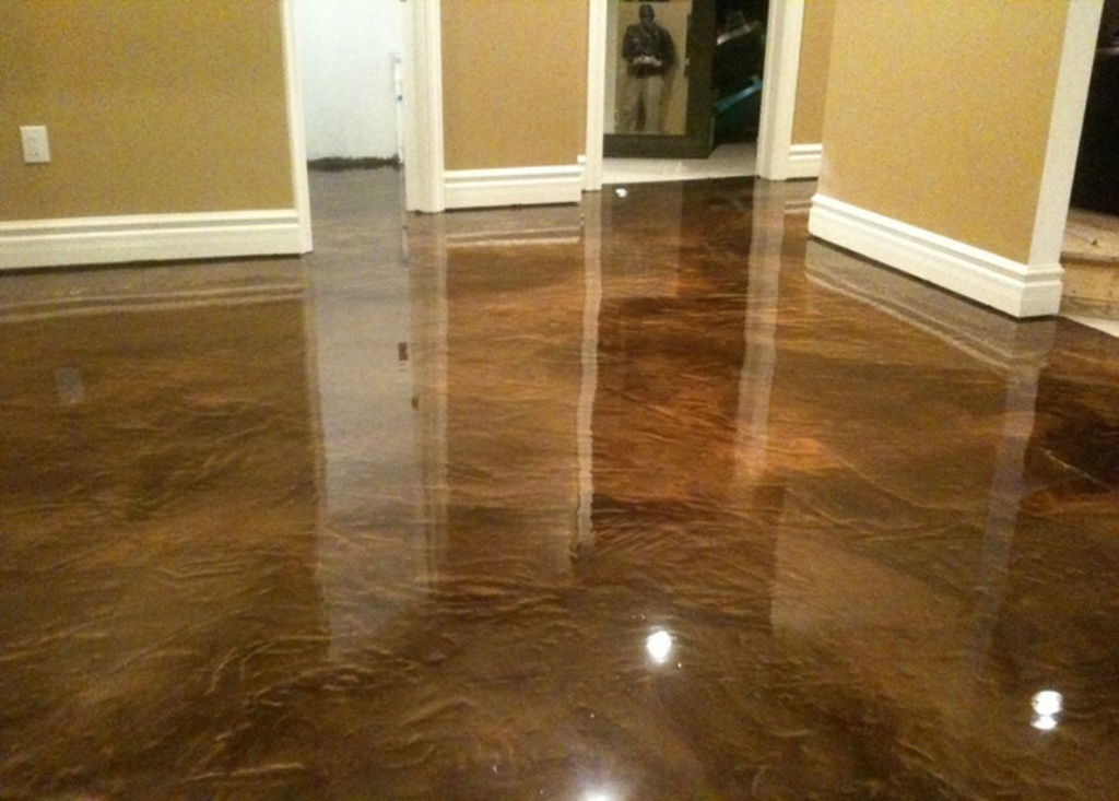 Painting Living Room Concrete Floor