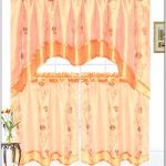 stunning orange jcpenney kitchen curtain design with long sleevs and silky accent and short size