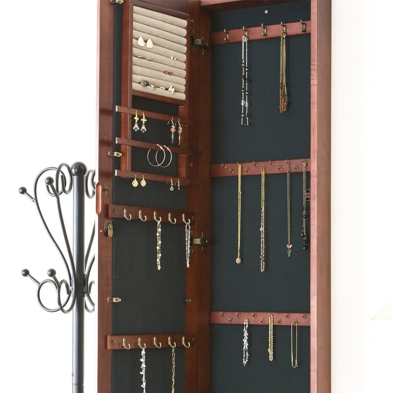 hanging jewelry cabinet let s manage your jewelry collections tidily in this 16191