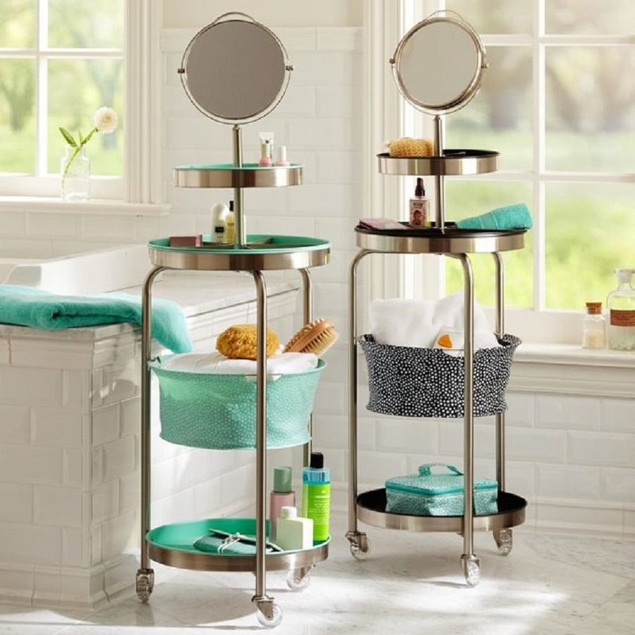 awesome floating bathroom shelves towel | Towel Shelves in the Bathroom – from Messy to Stylish ...