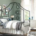 unique bedding pottery barn for teen idea with metal canopy and zebra print sheet and chair and white end table and glass window