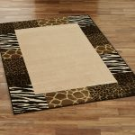 wonderful cheetah print rugs bringing stunning accent to the room and best decorated on wooden floor