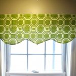 1 contemporary window valances in green lime scheme for beautiful windows