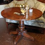 farm table antiqued distressed finish custom furniture design turned base