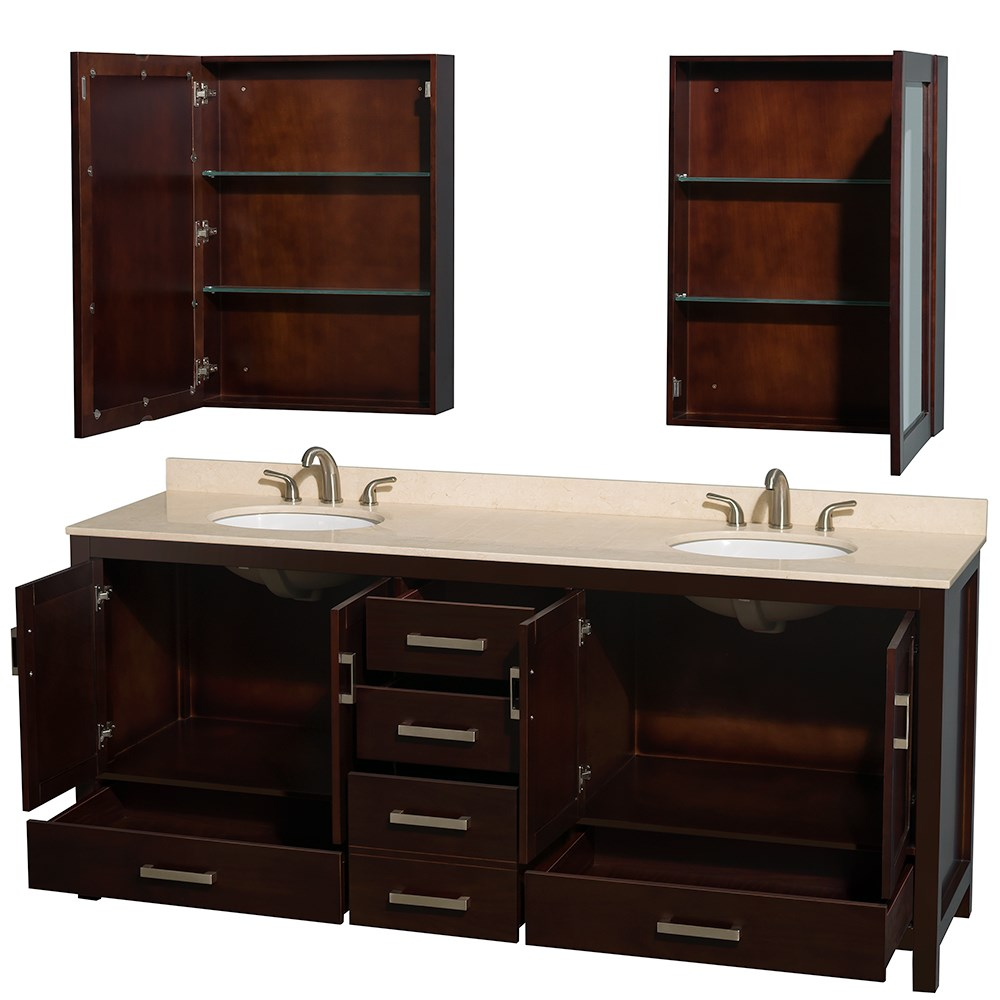 80 inch bathroom vanity ideas homesfeed. Black Bedroom Furniture Sets. Home Design Ideas