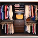 A clothes closet organizer by Martha Stewart