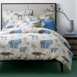 Animal Bed Theme Of Winter Duvet Covers On Pillows And Bedcover With Rectangular Small Table