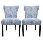 Armless Dining Room Chair With Beautiful Pattern Design