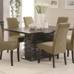 Armless Six Chaird And BIg Table Of Dining Room Sets Target