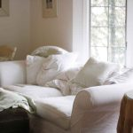 Awesome Living Room White Slipcovered Sofa