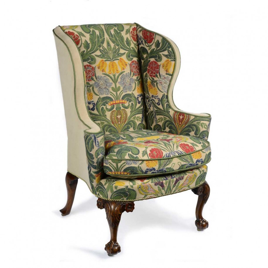 Upholstered wingback chairs homesfeed for Upholstered accent chairs cheap