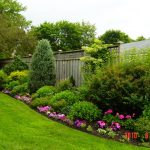 Backyard Fencing Ideas With Garden Layout Design