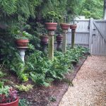 Backyard Garden Design Ideas For Small Garden With Fence Path And Stylihs Pots