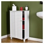 Bathroom Storage For Towel With White Cabinet