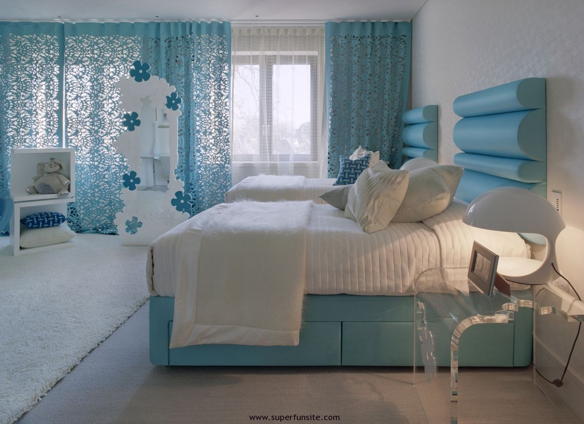 Ordinaire Blue Color Of Bedroom Ideas For Young Adults