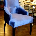 Blue Upholstered Chair For Dining Room