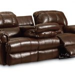 Brown Leather Fold Down Couch