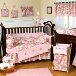 Camo Pink Baby Bedding Sets For Cribs On Furniture And Curtains