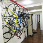 Ceiling mounted bike rack series