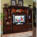Cherry Wood Furniture With Wooden Style For Tv Accessories And Storage Place