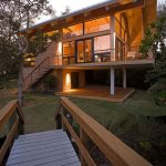 Contemporary Wooden House Designs With Pathways