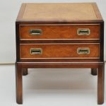 Cool Campaign Side Table With Drawers