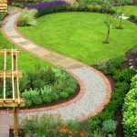 Cool Garden Footpath Designs With Stone