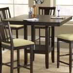 Counter Height Dinette Set With Four Chairs And Small Table With Shelf