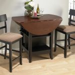 Counter Height Dinette Set With Halfmoon Table And Two Chairs