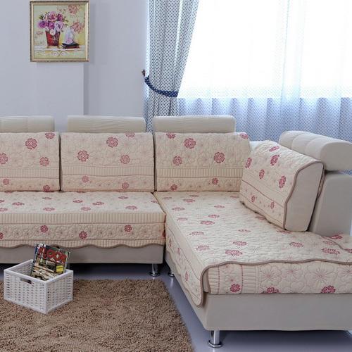 Slipcover for sectional sofas decorative and protective - Ikea fundas de sofas ...