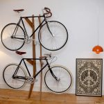 Creative bike rack made from wood