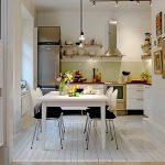 Cute Apartment Kitchen Set Design