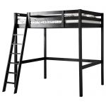 Dark Wooden Loft Bed Ikea