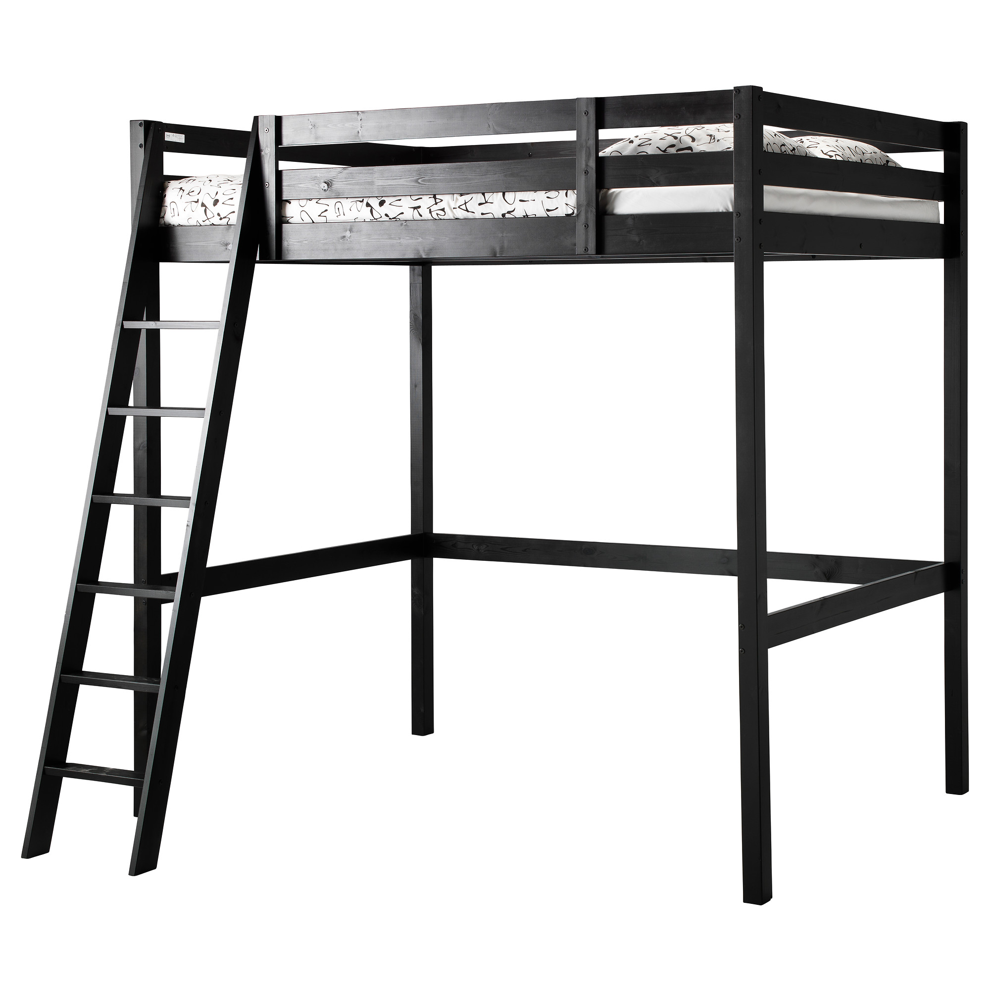 Dark Wooden Loft Bed Ikea