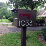 Dark toned modern mailbox