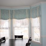 Dining Room Hal Window Curtains With Shades On Big Windows