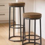 Double Round Industrial Style Bar Stools