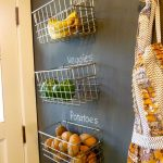 Fruit And Veggie Wall Mount Wire Basket
