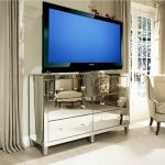 Glamour Mirrored Console Cabinet As Media Furniture For TV