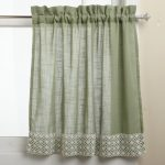 Green Half Window Curtains