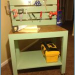 Green Wooden Kids Work Table