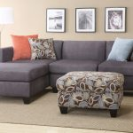 Grey 2 Piece Sectional Sofa With Chaise With Stylish Pillows