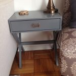 Grey Campaign Side Table As Side Table